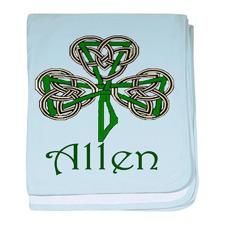 Allen Shamrock baby blanket