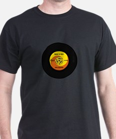 45 RPM Rock n Roll Record T-Shirt