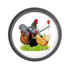Sex-link Chicken Quintet Wall Clock