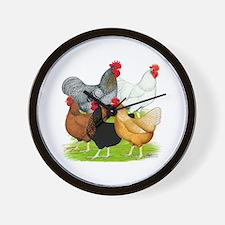 Sex-link Chicken Quintet Wall Clock