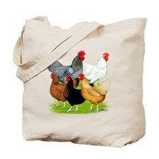 Sex-link Chicken Quintet Tote Bag