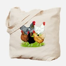 Sex-link Chicken Quintet Tote Bag