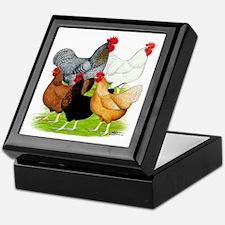 Sex-link Chicken Quintet Keepsake Box