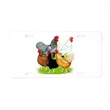 Sex-link Chicken Quintet Aluminum License Plate