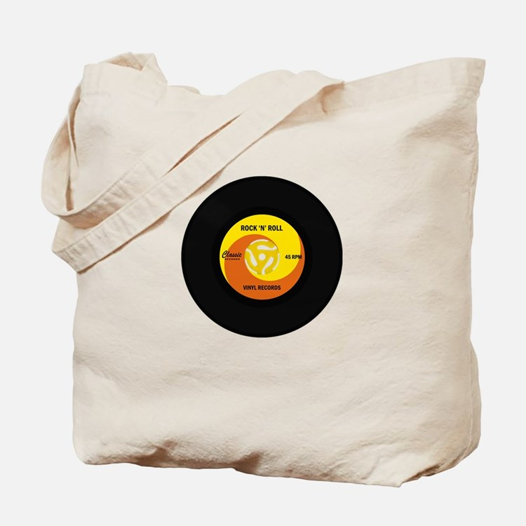 45 RPM Rock n Roll Record Tote Bag