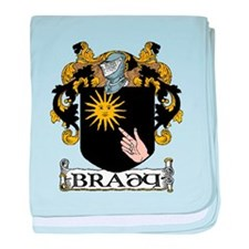 Brady Coat of Arms baby blanket