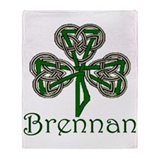 Brennan Shamrock Throw Blanket