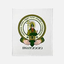 Brennan Clan Motto Throw Blanket