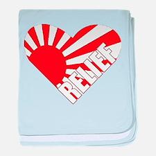Japan Relief Heart baby blanket