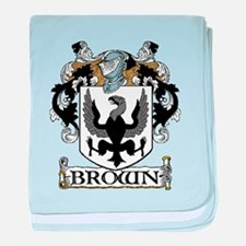 Brown Coat of Arms baby blanket