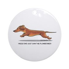 Dachshund Dad Funny Ornament (Round)