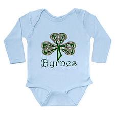 Byrnes Shamrock Long Sleeve Infant Bodysuit
