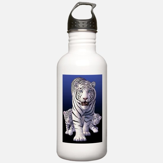 Funny White tiger on a Water Bottle