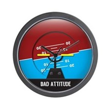 Bad Attitude Wall Clock