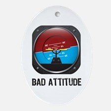 Bad Attitude Ornament (Oval)
