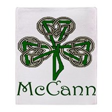 McCann Shamrock Throw Blanket