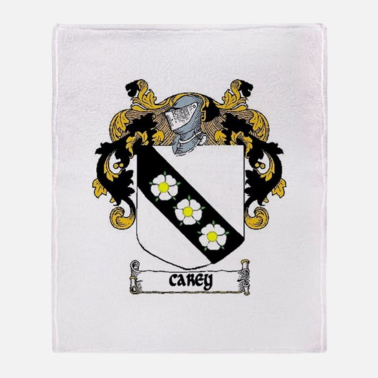 Carey Coat of Arms Throw Blanket