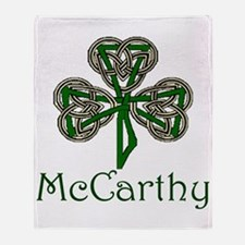 McCarthey Shamrock Throw Blanket