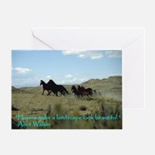 Funny Horse quotes Greeting Card