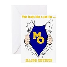 Major Obvious_ gold Lettering Greeting Card