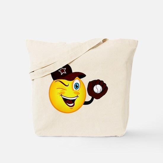 SMILEY {2} softball -crimson- Tote Bag
