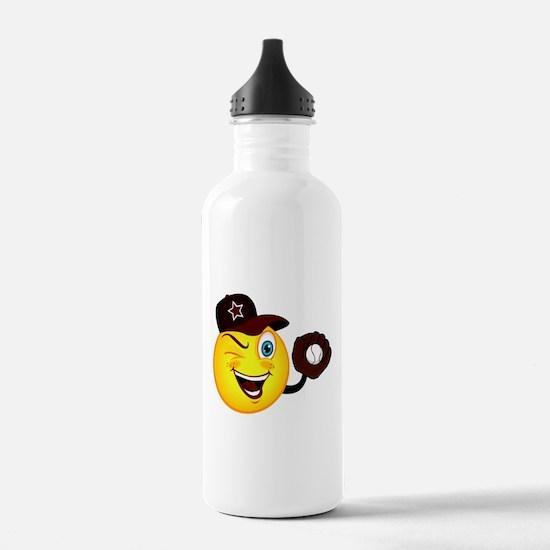 SMILEY {2} softball -crimson- Water Bottle