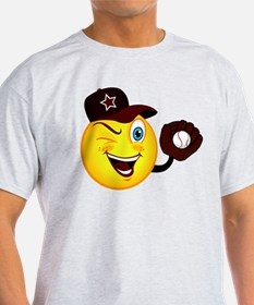 SMILEY {2} softball -crimson- T-Shirt