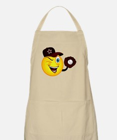 SMILEY {2} softball -crimson- Apron