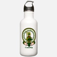 Cassidy Clan Motto Water Bottle