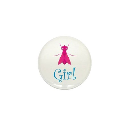Fly Girl Mini Button (10 pack)