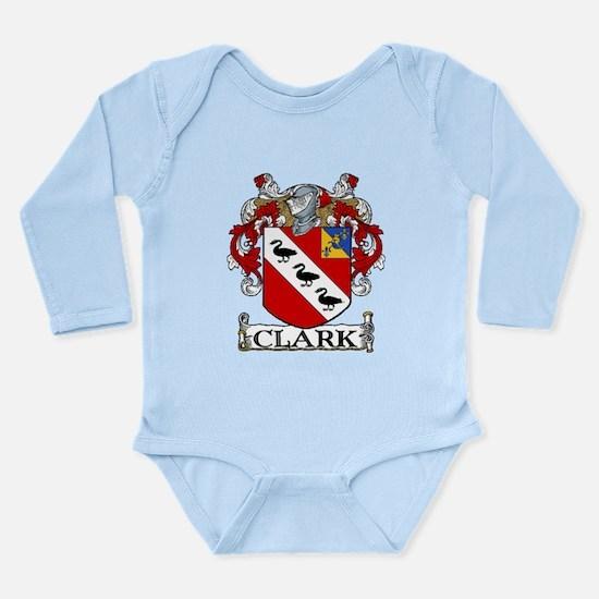 Clark Coat of Arms Long Sleeve Infant Bodysuit