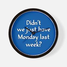 Monday Last Week? Wall Clock