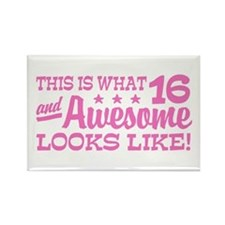 Funny 16th Birthday Rectangle Magnet