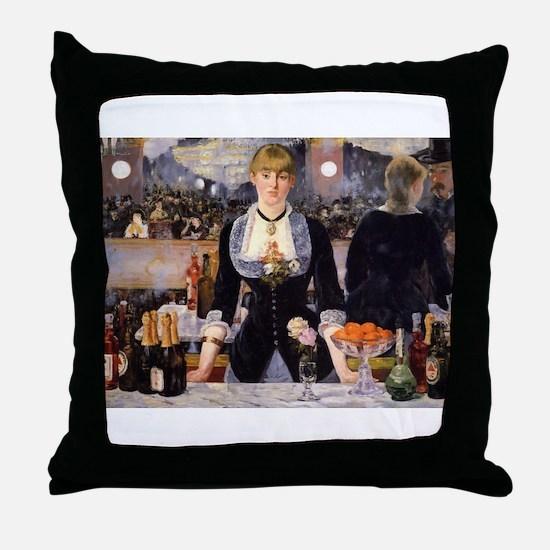 A Bar at Folies Bergere Throw Pillow