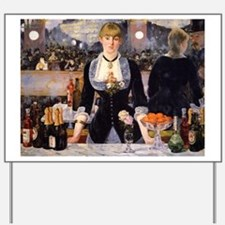 A Bar at Folies Bergere Yard Sign