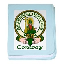 Conway Clan Motto baby blanket