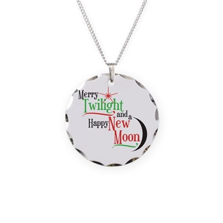 Twilight New Moon Christmas Necklace Circle Charm