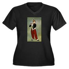 The Fifer Women's Plus Size V-Neck Dark T-Shirt