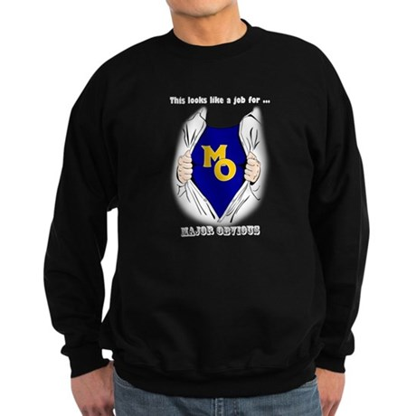 Major Obvious -w White letter Sweatshirt (dark)