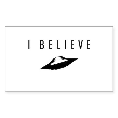 UFO I Believe/ Sticker (Rectangle)