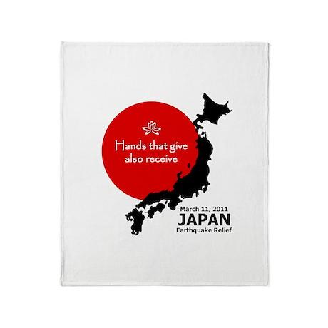Japan Earthquake Relief Throw Blanket