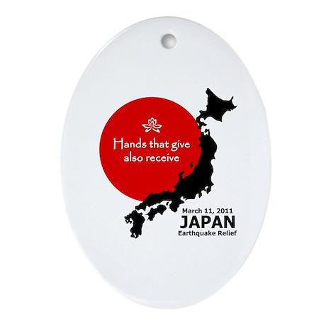 Japan Earthquake Relief Ornament (Oval)