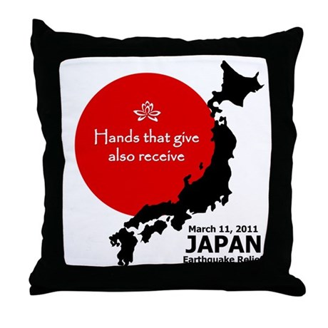 Japan Earthquake Relief Throw Pillow