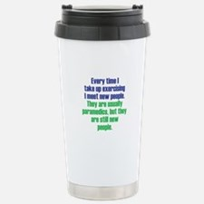 Benefits of Exercise Stainless Steel Travel Mug