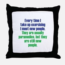 Benefits of Exercise Throw Pillow
