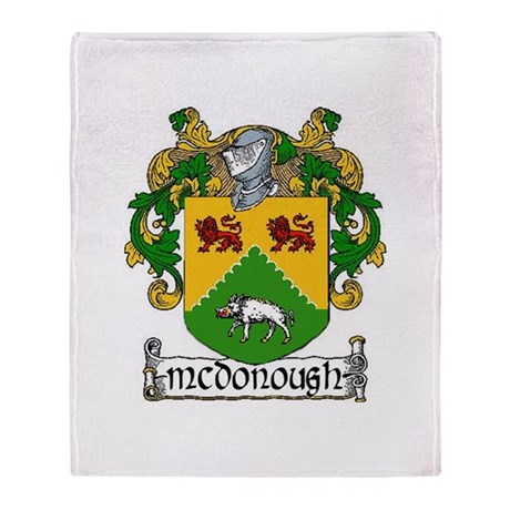 McDonough Coat of Arms Throw Blanket