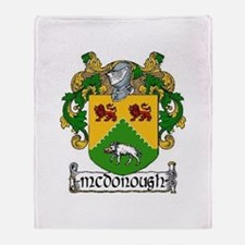McDonough Coat of Arms Throw Blanket