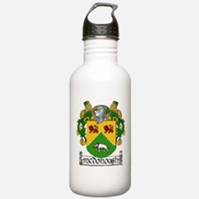 McDonough Coat of Arms Water Bottle