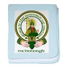 McDonough Clan Motto baby blanket