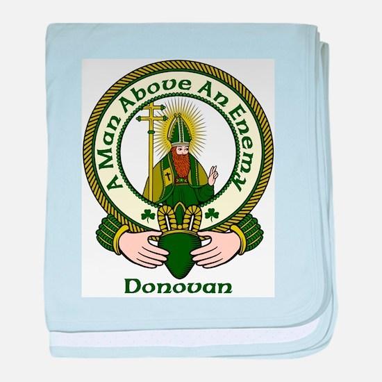 Donovan Clan Motto baby blanket